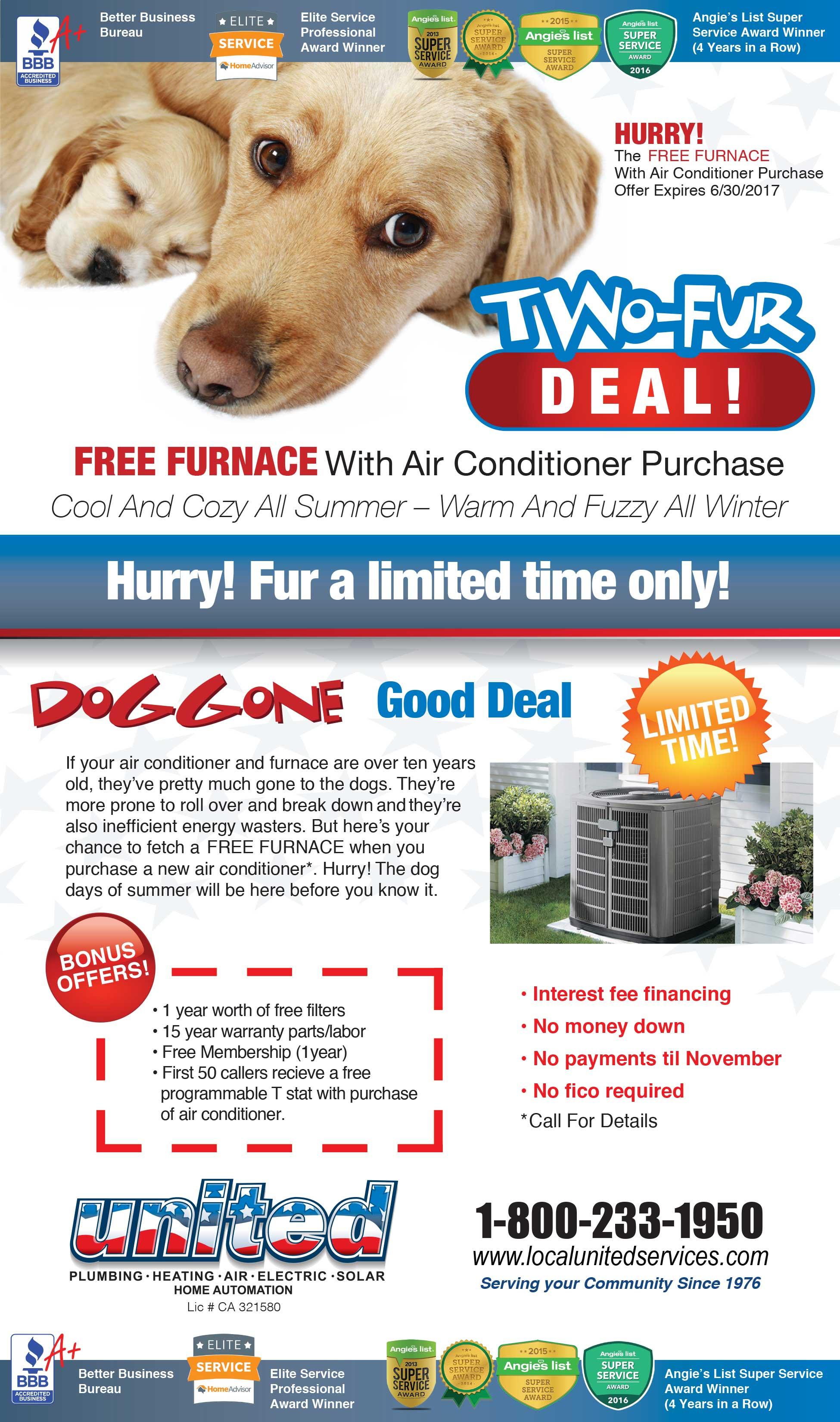 Free Furnace United Plumbing Heating Air Amp Electric